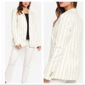 BANANA REPUBLIC Long & Lean-Fit Stripe Blazer Sz 8